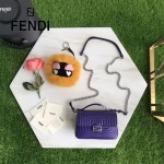 FENDI 8770-4 時裝秀新品MICRO BAGUETTE紫色原版牛皮縫線設計手提單肩包