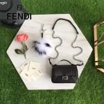 FENDI 8770-2 時裝秀新品MICRO BAGUETTE黑色原版牛皮縫線設計手提單肩包