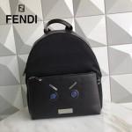 FENDI 266 型男必備無語表情貼片SELLERIA原單牛津尼龍配牛皮休閒雙肩包