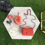 FENDI 8770-3 時裝秀新品MICRO BAGUETTE紅色原版牛皮縫線設計手提單肩包