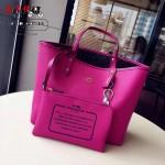 COACH-36658 時尚潮流新款媽咪包字母購物袋雙面用女士手提包