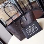 COACH-36658-2 時尚潮流新款媽咪包字母購物袋雙面用女士手提包