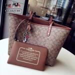 COACH-36658-3 時尚潮流新款媽咪包字母購物袋雙面用女士手提包