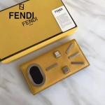 FENDI 0188-2 商務精英驚訝表情貼片黃色原版牛皮長款西裝夾