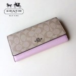 COACH-53763-4 時尚新款女式錢夾長款三折錢包多卡位翻蓋錢包