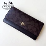 COACH-53763-5 時尚新款女式錢夾長款三折錢包多卡位翻蓋錢包