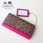 COACH-53763-2 時尚新款女式錢夾長款三折錢包多卡位翻蓋錢包