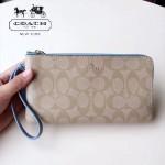 COACH-54057-2 最新款有單獨logo袋雙拉鏈隔層女士手拿包