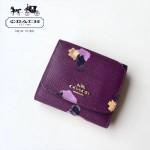 COACH-53758-2 新款時尚潮流女士唯美花朵三折短款錢包