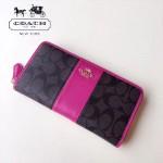 COACH-54630-2 原單PVC配皮經典logo專櫃新款馬車標拼色風琴長款拉鏈錢包