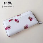 COACH-53794 花朵系列時尚新款女士拉鏈長款錢夾