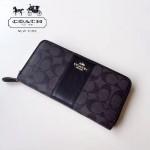COACH-54630 原單PVC配皮經典logo專櫃新款馬車標拼色風琴長款拉鏈錢包
