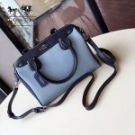 COACH-57498 全新拼色手掌紋波士頓枕頭包手提單肩包