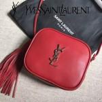 YSL 425317-3 高貴奢華新款紅色原版牛皮單肩斜挎包相機包