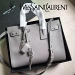 YSL 464960-3 人氣熱銷sac de jour灰色原版牛皮手提單肩包購物袋