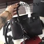 YSL 466283-2 名媛必備nano sac de jour黑色原版牛皮手提單肩包