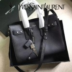 YSL 464960-2 人氣熱銷sac de jour黑色原版牛皮手提單肩包購物袋