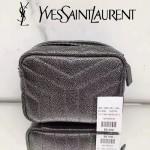 YSL 457588 高貴經典銀色原版石頭紋單肩斜挎包相機包