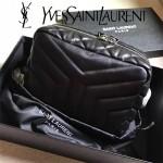 YSL 454317-3 精緻小巧黑色原版羊皮單肩斜挎包相機包