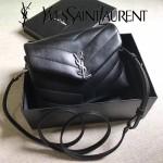 YSL 467072 專櫃同步新款黑色原版小牛皮單肩斜挎包翻蓋包