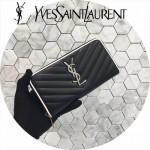 YSL 358094-2 專櫃新品黑色原版羊皮原廠五金長款拉鏈錢包