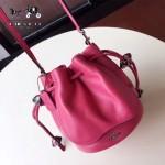 COACH-F57543 頭層牛皮可愛新款水桶包女士斜挎包