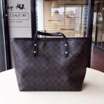 COACH-F57542 新款pvc印花材質隨性百搭時尚卡通塗鴉女孩購物袋