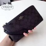 COACH-54057-3 最新款雙拉鏈隔層時尚潮流手拿包