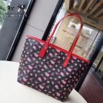 COACH-57888-2 新款花朵系列清新亮麗色彩斑斕購物袋媽咪包