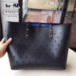 COACH-59345-2 新款蝴蝶沖孔大容量女士時尚購物袋
