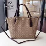 COACH-36722-2 大號帆布餃子包簡單大氣女士購物包