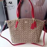 COACH-36722 大號帆布餃子包簡單大氣女士購物包