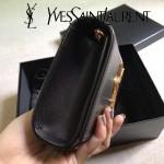 YSL 354121N 時尚百搭新款黑色原版牛皮單肩斜挎包晚宴包