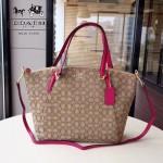 COACH-36722-3 大號帆布餃子包簡單大氣女士購物包