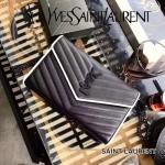 YSL 360452-16 時尚復古風黑白配原版魚子醬皮槍色五金單肩斜挎包
