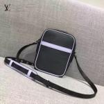 LV M41804-3 時尚新款LV+Supreme合作款水波紋配老花原版皮中號單肩斜挎包