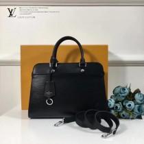 LV-M51239-4 中號手袋新款標誌性Epi皮革與Cuir Ecume牛皮混合材質手提單肩包