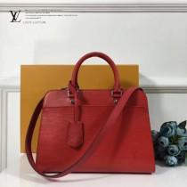 LV-M51239-3 中號手袋新款標誌性Epi皮革與Cuir Ecume牛皮混合材質手提單肩包