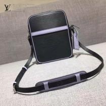 LV M41803-2 時尚新款LV+Supreme合作款拼色水波紋配老花原版皮大號單肩斜挎包