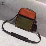 LV M41803-3 時尚新款LV+Supreme合作款拼色水波紋配老花原版皮大號單肩斜挎包