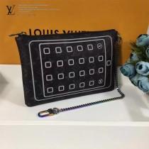 LV-M64449 手包平板電腦袋藤原浩合作設計融匯品牌傳統元素Monogram花花紋時尚動感風格手包