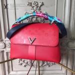 LV M42905-2 時髦都市VERY ONE HANDLEV型鎖扣紅色原版皮手提單肩包