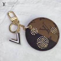 LV-MP1842 LV包圓牌復古手工釘法國材質全新夏季彩繪圖案可定制個性字母黃銅材質配件電鍍五金鑰匙掛件