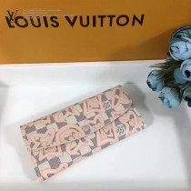 LV-N41625 Damier Azur帆布材質搭配柔軟Rose Ballerine內襯多口袋迷你清晰甜美夏日氣息EMILIE 錢夾