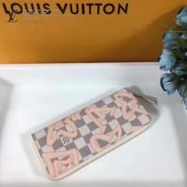 LV-N60099 大溪地系列CLEMENCE錢夾Damier Azur帆布面料飾有路易威登經典設計的華麗Monogram印花錢夾