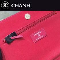 CHANEL-01101-2 夏季新款羊皮拼色WOC菱格紋女士單肩斜挎包