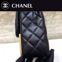 CHANEL-01114-2 限量版新款經典CF菱格牛皮金屬金扣女士單肩斜挎包