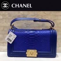 CHANEL-01115-2 新款BOY蛇皮配羊皮皮帶里外全皮鏈條包女士斜挎包