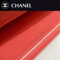 CHANEL-01109 古巴度假新款胎牛皮V格彩線WOC發財包斜紋經典鏈條包斜挎包