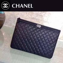 CHANEL-01106 原單最新款圍鏈胎牛皮時尚手包信封包